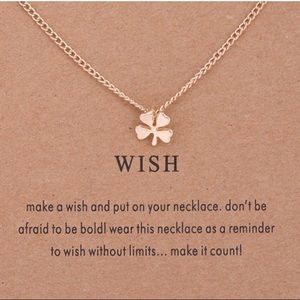 ⚡️2 for $15 Dainty Clover Wish Gold Tone Necklace